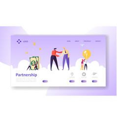 businessmen shaking hands partnership deal vector image