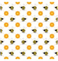 Buzzy bee seamless vector