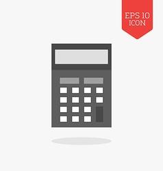 Calculator icon Flat design gray color symbol vector image