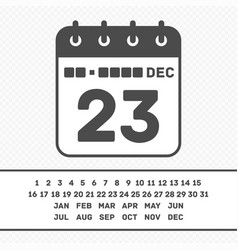 calendar icon with date vector image