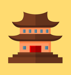chinese pagoda temple graphic vector image