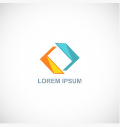 circle shape color logo vector image
