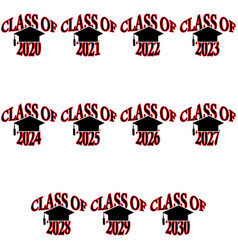 Class graduation years vector