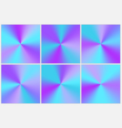 Collection blue conical gradients vector