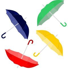 Colorfull umbrellas vector image