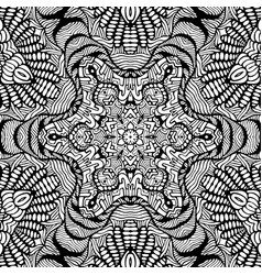 coloring page abstract mandala with decorative vector image
