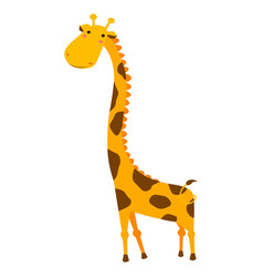 cute giraffe cartoon isolated on white background vector image