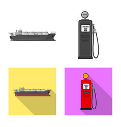Design of oil and gas logo collection of vector