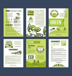 Ecology green city eco business poster template vector