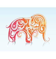Elephant drawing vector