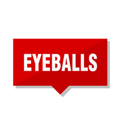 eyeballs red tag vector image