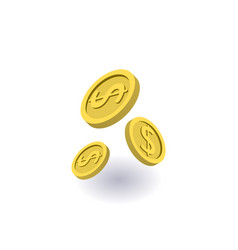 falling coins icon symbol vector image
