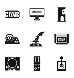 Fantasy games icons set simple style vector