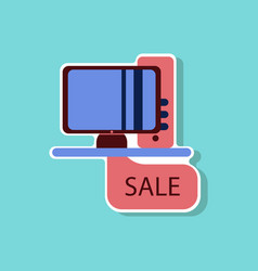 Fashion patch sale sticker computer sale online vector