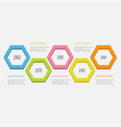 five step timeline infographic colorful 3d big vector image