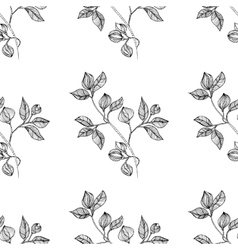 floral oriental black isolated seamless background vector image