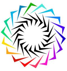 Geometric shape as logo or generic design element vector