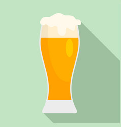 glass of pub beer icon flat style vector image