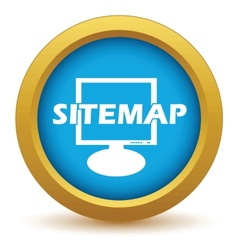 Gold sitemap icon vector