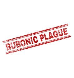 Grunge textured bubonic plague stamp seal vector