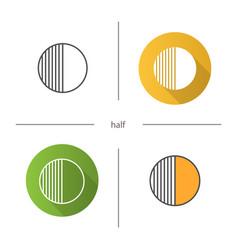 half symbol icon vector image