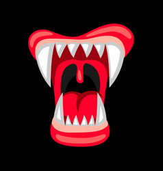 happy halloween angry jaws vector image