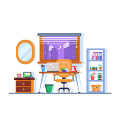 home or office workplace interior design vector image