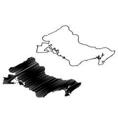 honolulu city map vector image