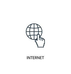 internet concept line icon simple element vector image