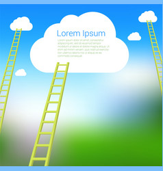 Ladder to clouds template vector