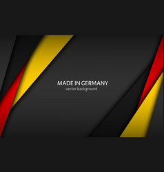 made in germany modern background vector image