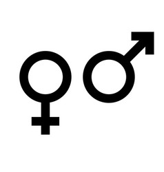 Male and female gender symbol man and woman icon vector