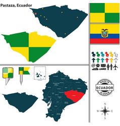 Map of pastaza ecuador vector