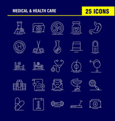 Medical and health care line icon for web print vector