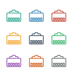 Phone cable icon white background vector