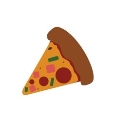 Pizza food menu fast dinner icon graphic vector image