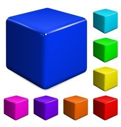 Plastic cubes vector