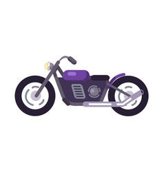purple scooter design motorized motorbike icon vector image