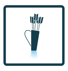 Quiver with arrows icon vector