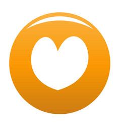 Reliable heart icon orange vector