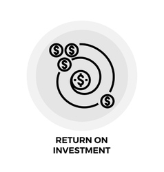 Return on Investment Line Icon vector