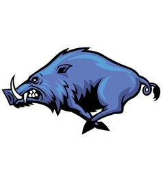 Running wild hog mascot vector