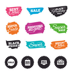 Sale speech bubble icons buy now arrow symbol vector