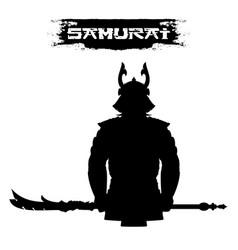samurai silhouette 0001 vector image