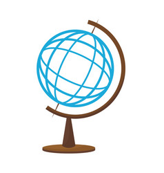 School globe map atlas world icon vector