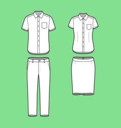 Set a blazer pants and skirt vector