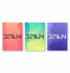 Set minimalist gradient geometric cover design vector