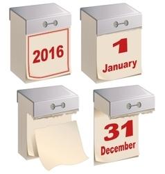 Set Tear-off calendar template vector