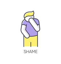 Shame rgb color icon vector