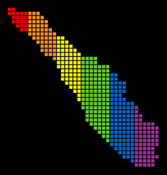 Spectrum dotted lgbt sumatra island map vector